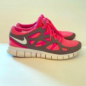 Nike Free Run 2 Neon Pink & Gray size 9